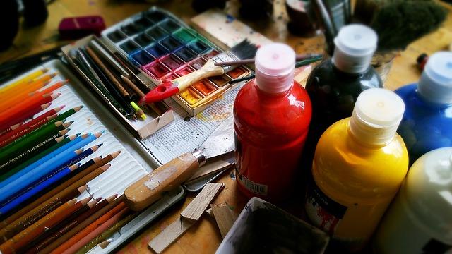 La touche de peinture pour un déco typiquement hivernale